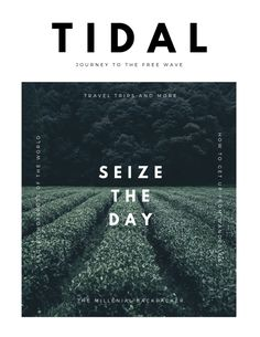 Tidal – Journey to the free tips to Travel. Tidal – Journey to the free tips to Travel. Magazine Cover Layout, Magazine Cover Template, Magazine Layout Design, Magazine Layouts, Magazine Design Inspiration, Magazine Articles, Travel Inspiration, Poster S, Poster Layout