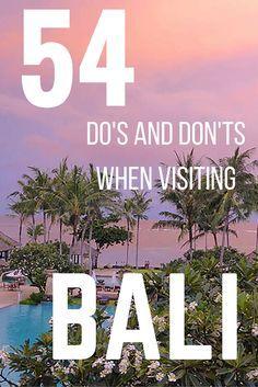 Handy tips when you visit Bali