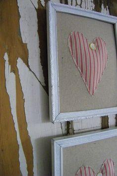 A heart on burlap...