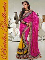 latest embroidered saree