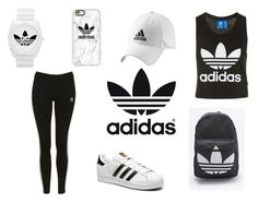 """Adidas"" by elizabetta-i ❤ liked on Polyvore featuring adidas, adidas Originals, Topshop and Casetify"