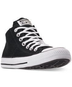 1f18d35cfa7 Converse Women s Chuck Taylor Madison Mid Casual Sneakers from Finish Line  - Black