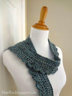Free Crochet Pattern...Ocean Air Scarf