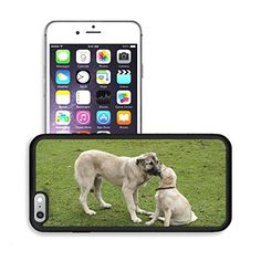 Luxlady Premium Apple iPhone 6 Plus iPhone 6S Plus Aluminum Backplate Bumper Snap Case IMAGE ID: 25474146 two dogs in love Reviews