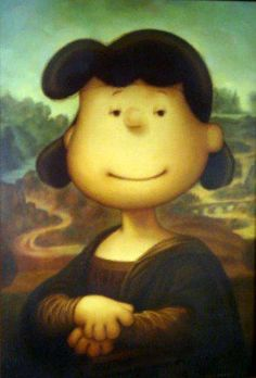 Mona Lucy, I just love this one. I imagine that there is a similar picture with Snoopy somewhere to be found.