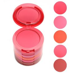 Professional Makeup 5 Colors Makeup Blush Face Blusher Powder Palette Cosmetics Free Shipping