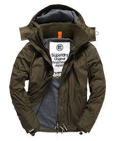 Mens - Arctic Windcheater in Army/dark Grey Marl | Superdry
