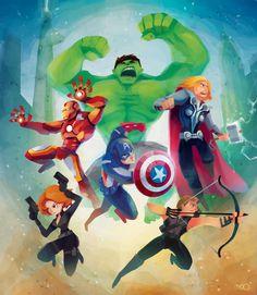 Cartoony Avengers by *zgul-osr1113 on deviantART