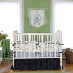 Gone Fishing Baby Bedding from PoshTots... need to remember this theme in like 5 years