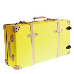 J Crew Globe-Trotter Centenary extra-deep suitcase with wheels. I want this suitcase.