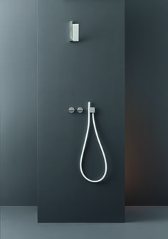 Contemporary Bar-Switch Wall Mount Shower Set