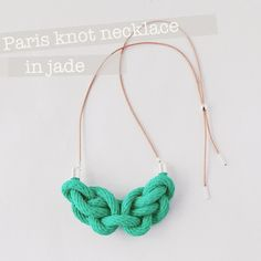 Image of Paris knot necklace in navy