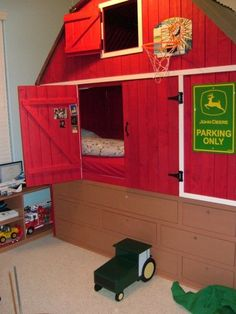 Barn Bed with Tractor Stool @Hollie Baker A L E Y | V A N | L I E W Kelsey except Case instead!
