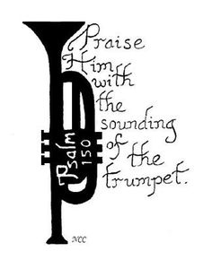 trumpet pattern  use the printable outline for crafts