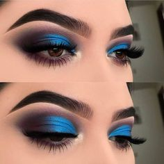 Idée Maquillage 2018 / 2019 : Top 25 Life Changing Eye Makeup Tips For Beginner. Augen Makeup, , Idée Maquillage 2018 / 2019 : Top 25 Life Changing Eye Makeup Tips For Beginner. Colorful Eye Makeup, Blue Eye Makeup, Eye Makeup Tips, Makeup Hacks, Smokey Eye Makeup, Makeup Goals, Makeup Inspo, Beauty Makeup, Makeup Ideas