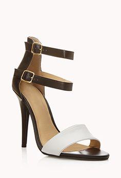 Modernist Colorblocked Sandals | FOREVER 21 - 2021730305