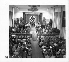 Germany, 1937-1938, A propoganda photograph of a Hitler Jugend ceremony.