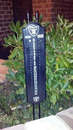 Raiders Cornhole scoreboard
