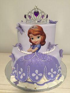 Sofia Birthday Cake, Princess Sofia Birthday, Butterfly Birthday Cakes, Barbie Birthday Cake, Happy Birthday Cake Images, Sofia The First Birthday Party, Sofia The First Cake, Sofia Cake, Princess Sophia Cake