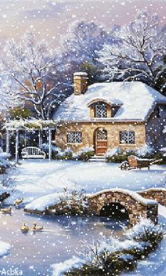 - Gifts and Costume Ideas for 2020 , Christmas Celebration Winter Christmas Scenes, Christmas Scenery, Christmas Pictures, Christmas Art, Christmas Greetings, Christmas Gifts, Gif Noel, Winter Szenen, Foto Gif