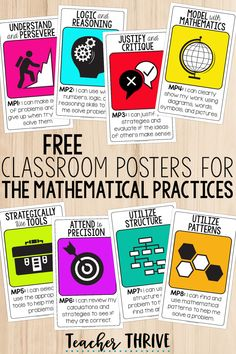 Free classroom posters for the Common Core Mathematical Practices. Classroom decor can look good and serve a function! Common Core Posters, Common Core Math, Common Core Standards, Classroom Posters, Math Classroom, Classroom Decor, Teaching Critical Thinking, Teaching Math, Visible Learning