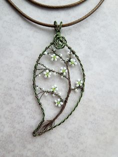 Wired Leaf Pendant
