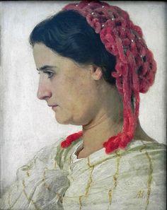 chenille hair net, 1863