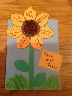 Grow with Jesus Bible Craft by Let