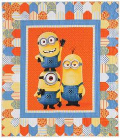 1 in a Minion Quilt Kit: Wrap up your favorite minion with this adorable kid-size quilt designed by Paula Stoddard. This fun quilt is perfect for naptime or playtime. Easy piecing and a super cute panel make this quilt a breeze to make.