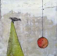 Tilting Forward - Encaustic by Virginia Parks