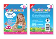 KoolioVBandz- child security writs band packaging with  in built E-trace techology.