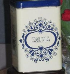 Lovely old plate coffee box Finland