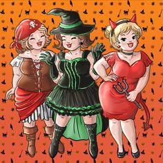 Halloween, Big Girls, Bubbly Girls, Mollige Meiden. Princesa Pin Up, Cute Sketchbooks, Old Lady Dress, Abraham And Sarah, Lantern Tattoo, Plus Size Art, Art Impressions Stamps, Fat Women, Big Guys