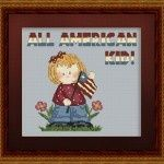 Free chart: All American Girl Patriotic Cross Stitch limited to 500 downloads, then it wont be free anymore..