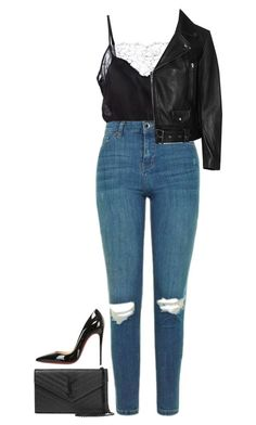 Rough Around The Edges by hernamewaslily on Polyvore featuring polyvore fashion style Acne Studios Topshop Fleur du Mal Christian Louboutin Yves Saint Laurent clothing