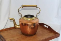 Beautiful Vintage Copper Tea Kettle / Tea Pot Heavy Duty!
