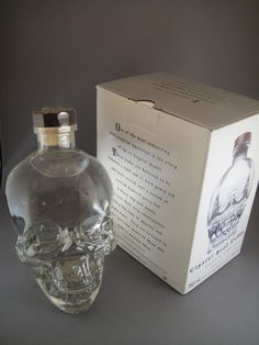 Crystal Head Vodka - Did you know this lovely pure vodka was created by actor Dan Aykroyd, and artist John Alexander? Pricey, but not only is the vodka ultra premium, the bottle is so darned cool. The airline-sized bottles cost not quite eleven bucks, but I liked the bottle so much, it seemed worth it...