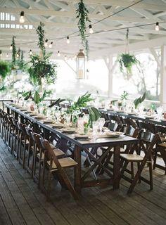 Hawaii infused wedding table decor: http://www.stylemepretty.com/2017/05/24/puakea-ranch-spring-wedding/ Photography: Christine Clark - https://www.christineclarkphoto.com/