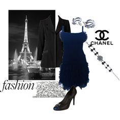 """Midnight blue flapper by Chanel"" by maria-kuroshchepova on Polyvore"