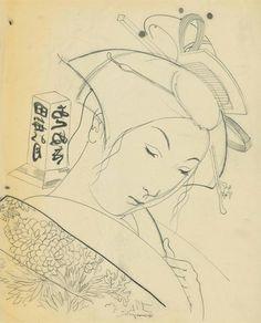 Tsuguharu Foujita, Le dragon des mers (La geisha)