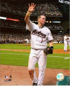 Craig Biggio - 2007 Career Hit (Wave (Blue)) Photo Print x Baseball Star, Baseball Cards, Mlb Spring Training, Houston Astros, Vivid Colors, All In One, Waves, Sports, Legends