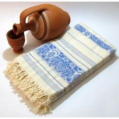 Light Blue Jakarli Peshtemals by Casa Bella Textiles