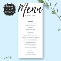 Wm  Wedding Menu Printable Template Printable Menu Menu