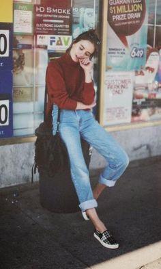 Look Calça Jeans: Tricot