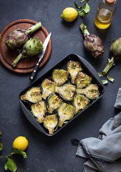 Easy garlic roasted artichokes recipe
