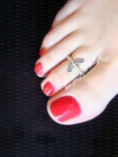 Toe Ring Mini Butterfly Silver Stretch by FancyFeetBoutique Butterfly Stretch, Butterfly Ring, Pretty Toe Nails, Pretty Toes, Silver Toe Rings, Feet Nails, Beautiful Toes, Foot Toe, Sexy Toes