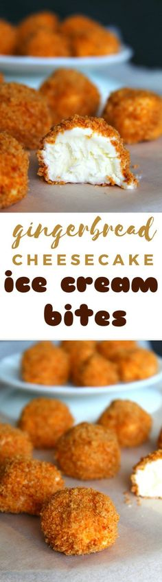 Cheesecake ice cream bites