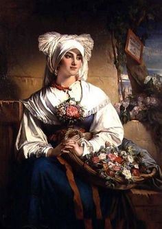 It's About Time: Flower Sellers - Jean-Francois Portaels 1818-1895