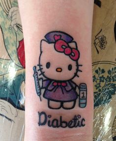 First Tattoo for an 18 year old diabetic.