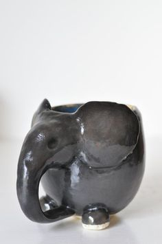 Safari Collection: Ceramic Elephant Mug // by MaaMaaCourt on Etsy